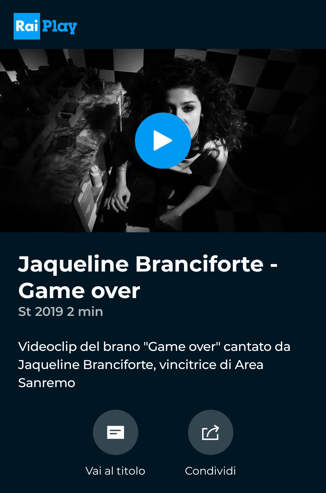 Game Over, Jaqueline ranciforte